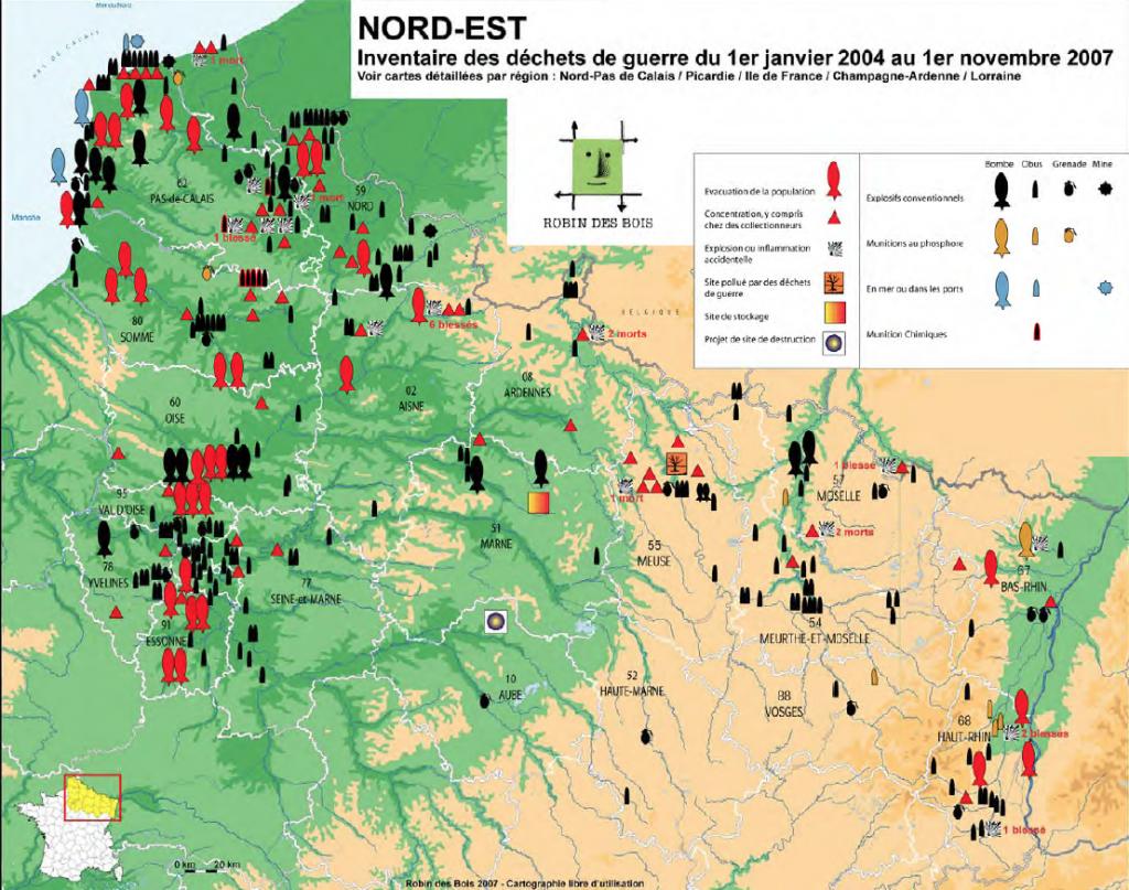 carte-nord-est-dechets-guerre-2007RobindesBois