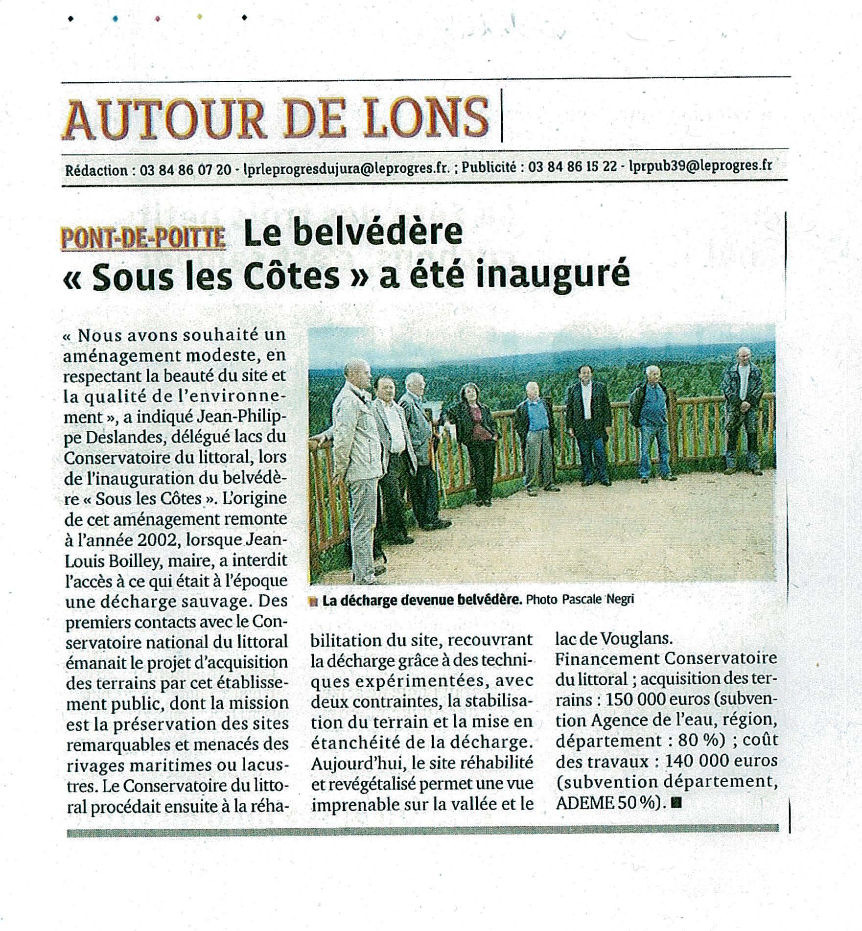 Article Le Progrès, 14 juin 2012