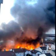 (Français) Nouvel incendie d'entrepôt à Aubervilliers (93)