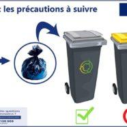 (Français) COVID-19. Offrez une poubelle à vos mouchoirs, à vos masques et à vos gants