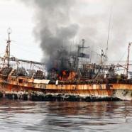 Torpiller les déchets du tsunami et polluer
